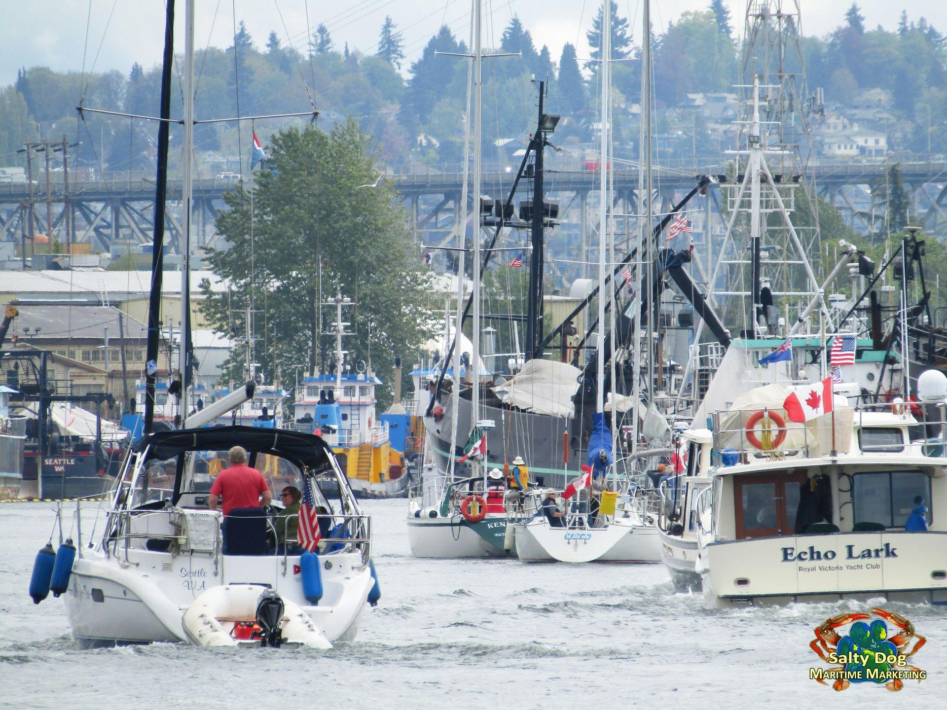 Opening Day 2017 Seattle Yacht Club UW Husky Crew Races