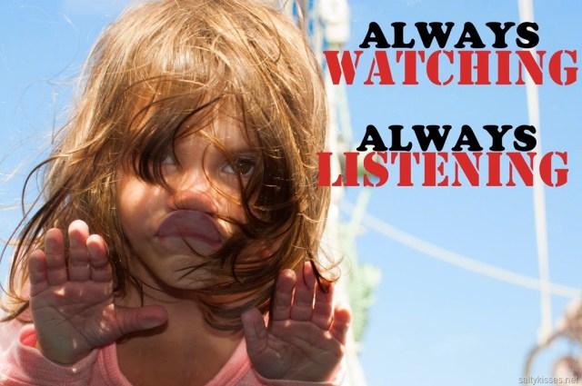 watching listening