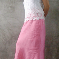 DIY : Sew a Maxi Skirt in Linen for Wedding Party