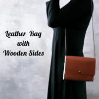 DIY Leather Bag with Wooden Sides !