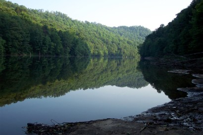 Veiw downriver of the Gauley not far from the start of Summersville Lake