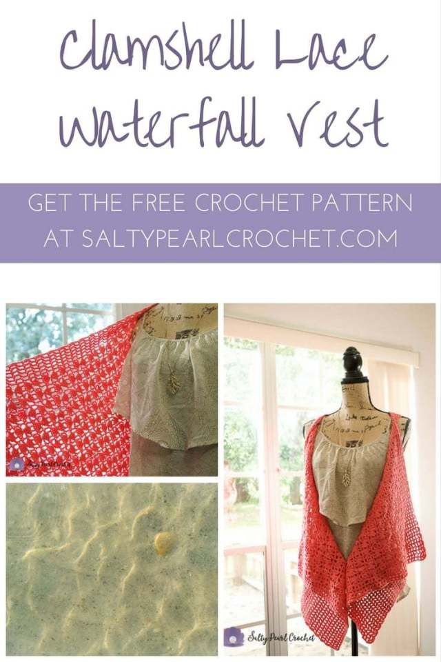 Clamshell Lace Vest Salty Pearl Crochet