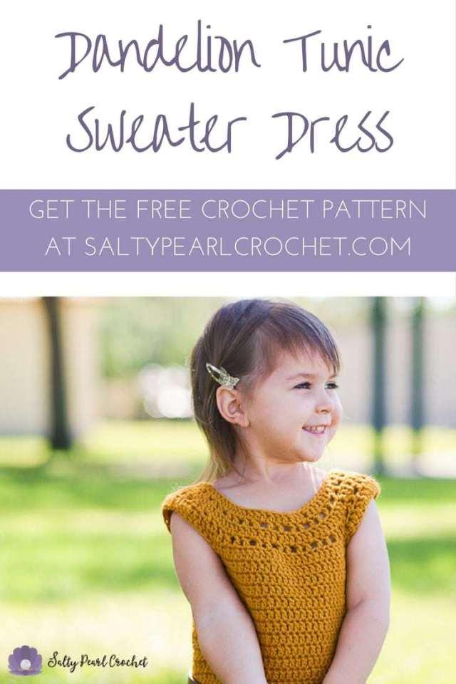 Dandelion Tunic Dress Salty Pearl Crochet