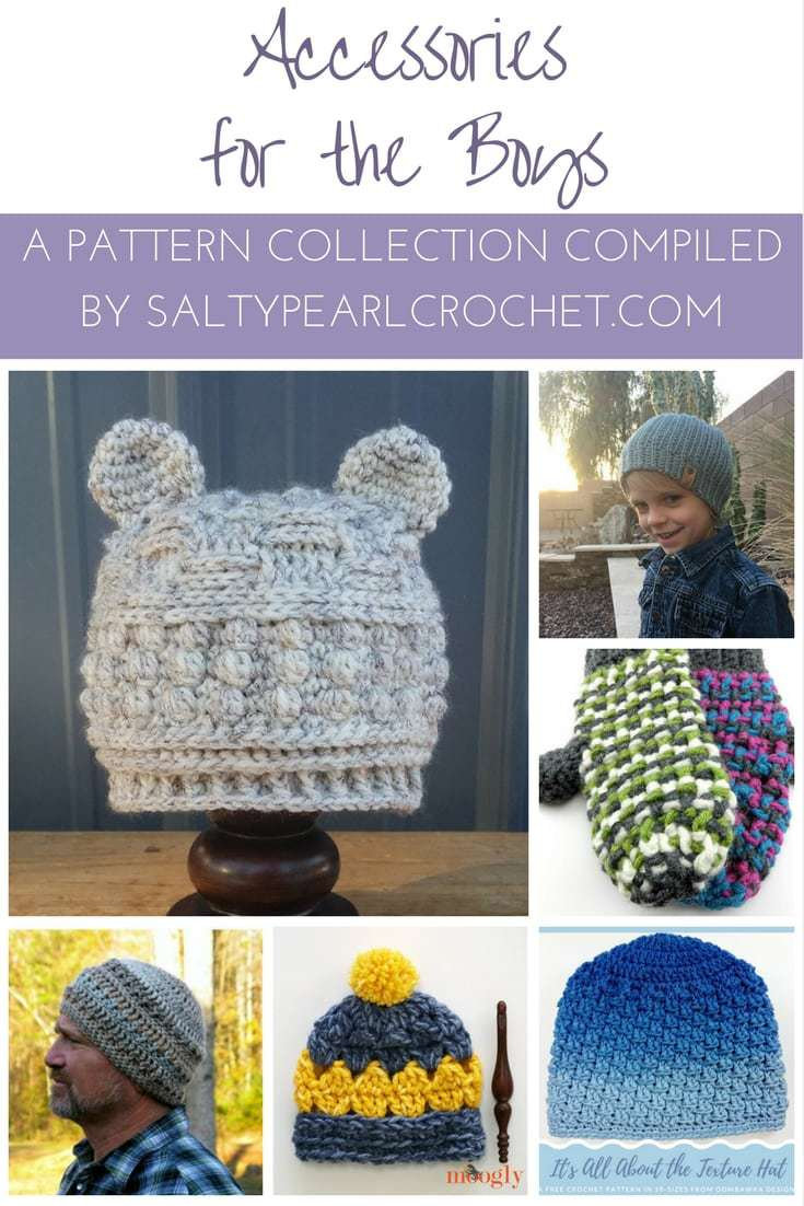 Pattern Collection: Accessories for the Boys • Salty Pearl Crochet