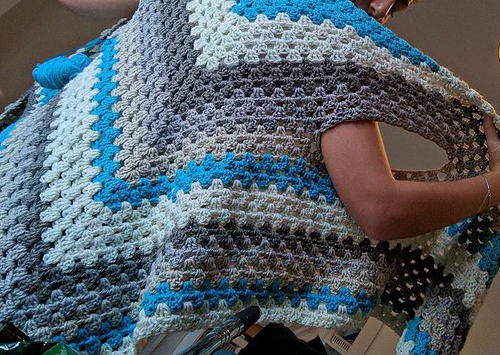 Clever Triangle Shawl and Scarf - - part of a boho crochet vest pattern collection curated by SaltyPearlCrochet.com.