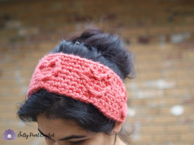 Free Crochet Headband Pattern: Chunky Cabled Heart Ear Warmer ...