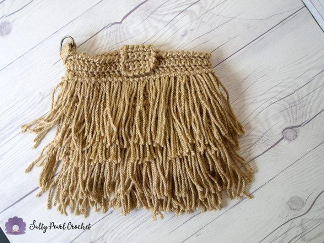 Crochet Fringe Clutch Purse Pattern Free Salty Pearl Crochet