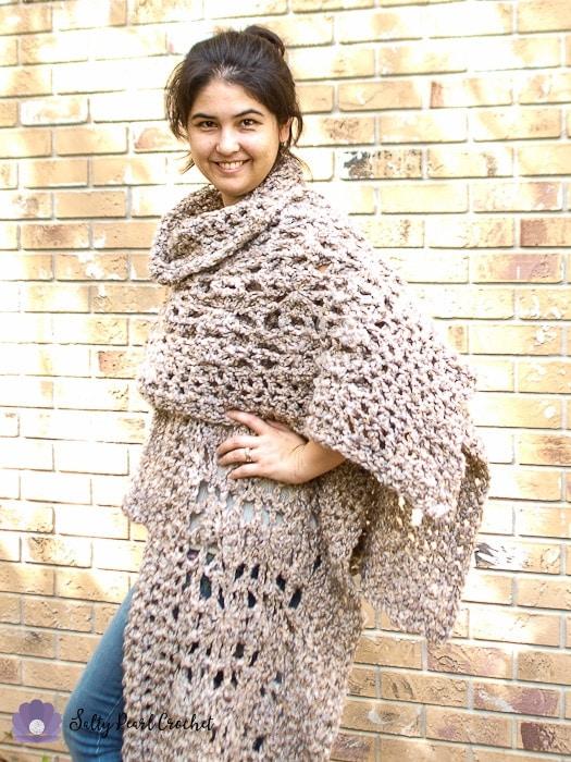 Quick Crochet Poncho Free Pattern