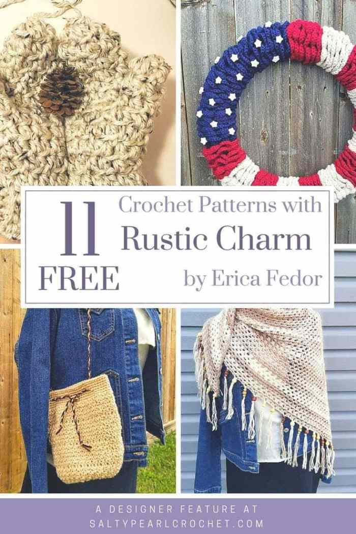 11 Free Rustic Crochet Patterns By Erica Fedor Of Highland Hickory