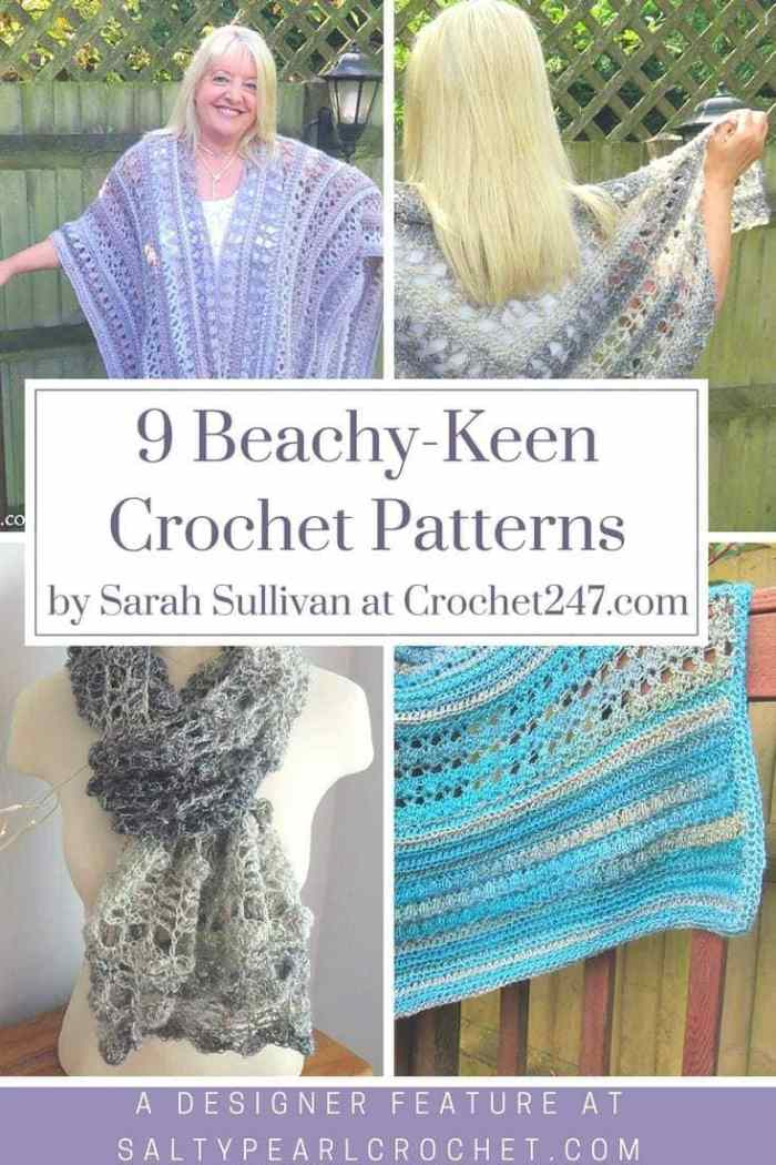 9 Beachy Crochet Patterns from Sarah of Crochet247.com • Salty Pearl ...