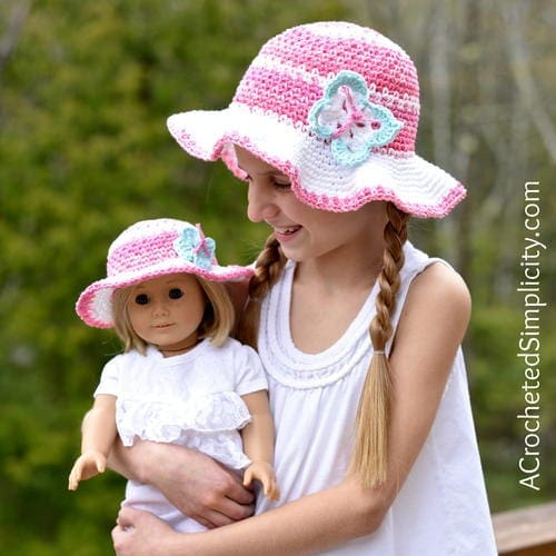 7 Free Crochet Sun Hat Patterns For Children Salty Pearl Crochet