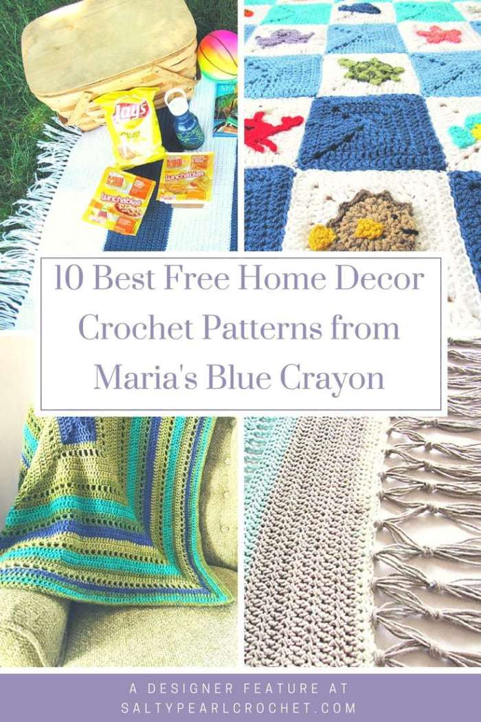 10 Free Home Decor Crochet Patterns From Marias Blue Crayon Salty