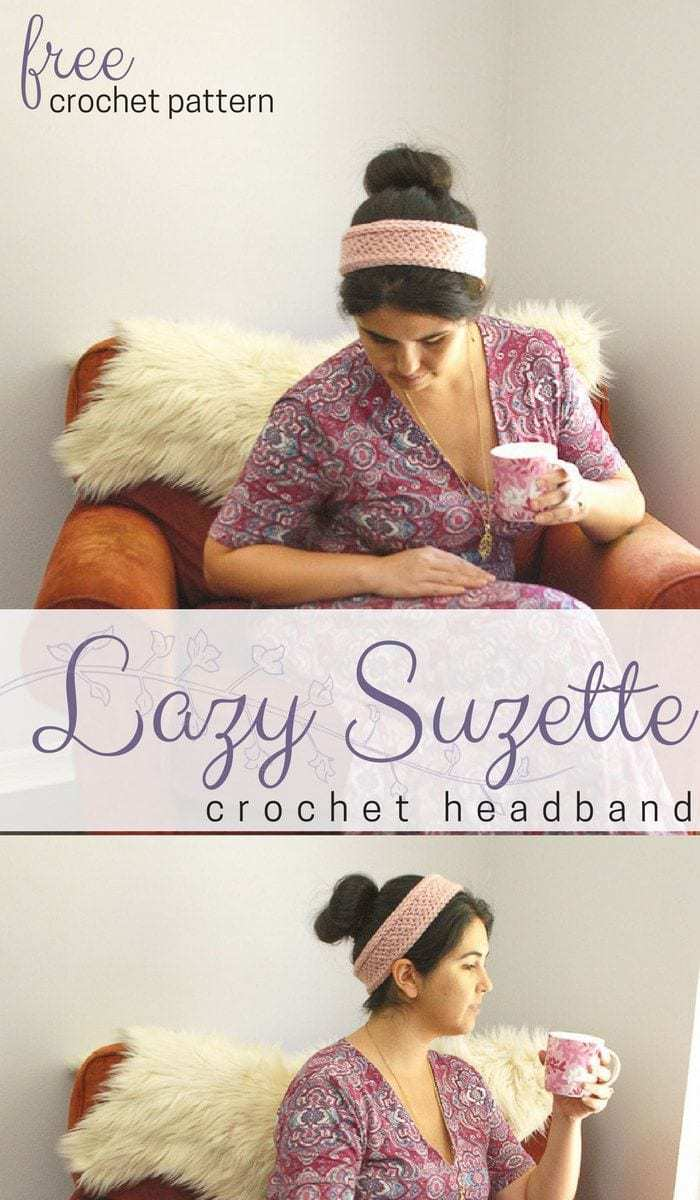 Lazy Suzette Headband Pattern • Salty Pearl Crochet