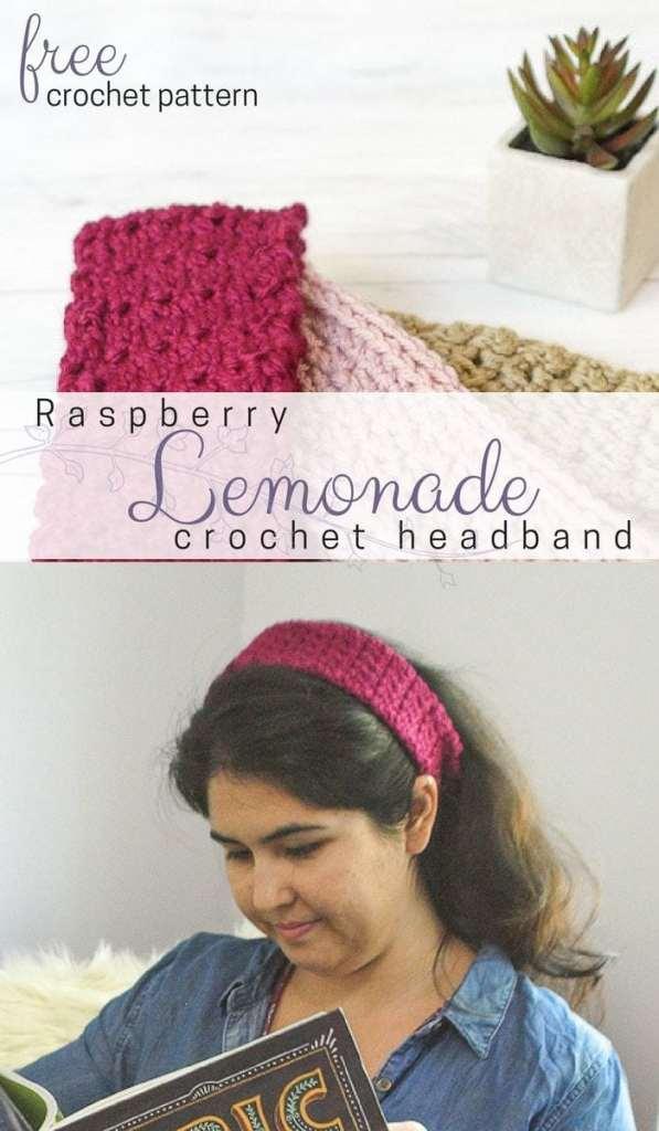 Free Crochet Headband Pattern Raspberry Lemonade Salty Pearl Crochet