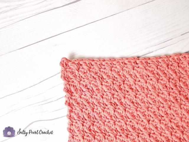 Suzette Stitch Crochet Spa Washcloth Closeup