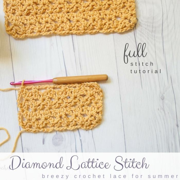 Diamond Lattice Stitch And Dishcloth Pattern Salty Pearl Crochet
