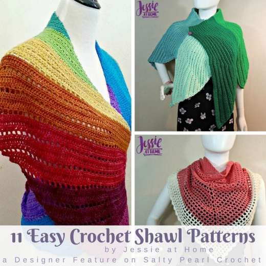 Free And Easy Crochet Shawl Patterns Archives Salty Pearl Crochet