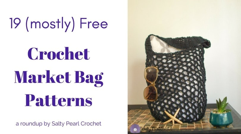 photo relating to Handbag Patterns Free Printable known as 19 Basic Crochet Market place Bag Practices Salty Pearl Crochet