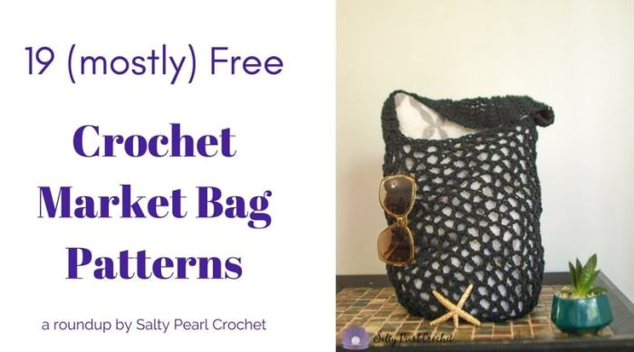19 Easy Crochet Market Bag Patterns • Salty Pearl Crochet