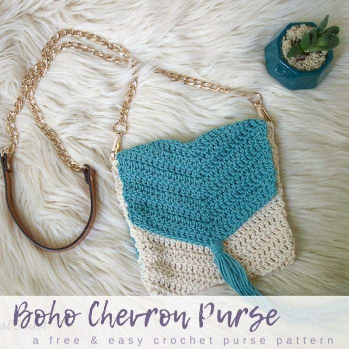 Free Easy Boho Crochet Purse Pattern Salty Pearl Crochet