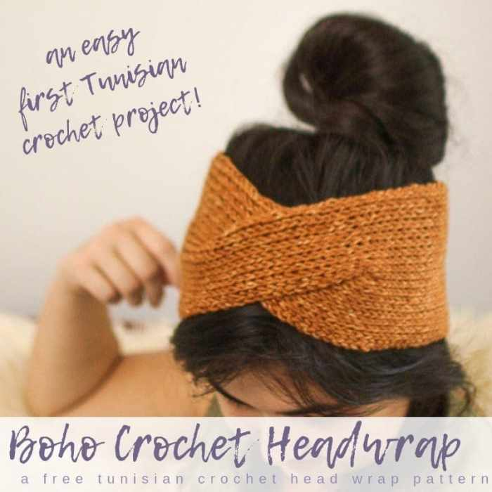 Twisted Boho Crochet Headwrap Pattern Salty Pearl Crochet