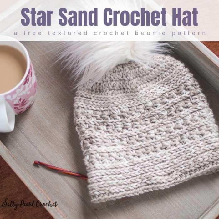 Star Sand Free Crochet Hat Pattern • Salty Pearl Crochet a4e68e28e08