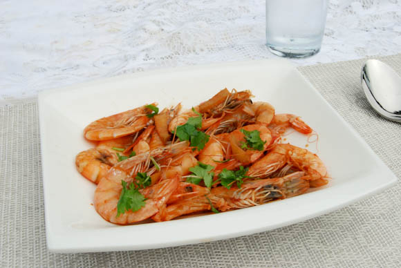 Shrimp with Ginger and Soy Sauce