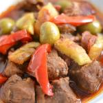 Pork Estofado (Stewed Pork with Olives and Sausage)