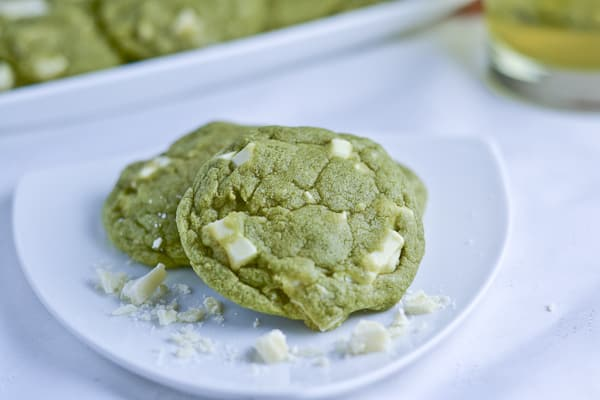 White Chocolate Green Tea Matcha Cookies