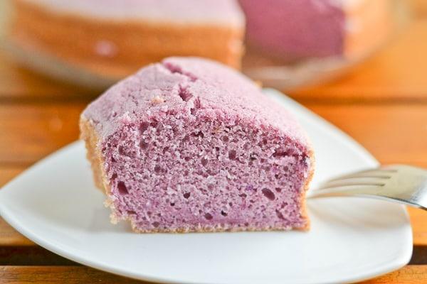 how to prepare purple yam fir cake