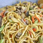 Beef Noodle Stir Fry with Mixed Vegetables