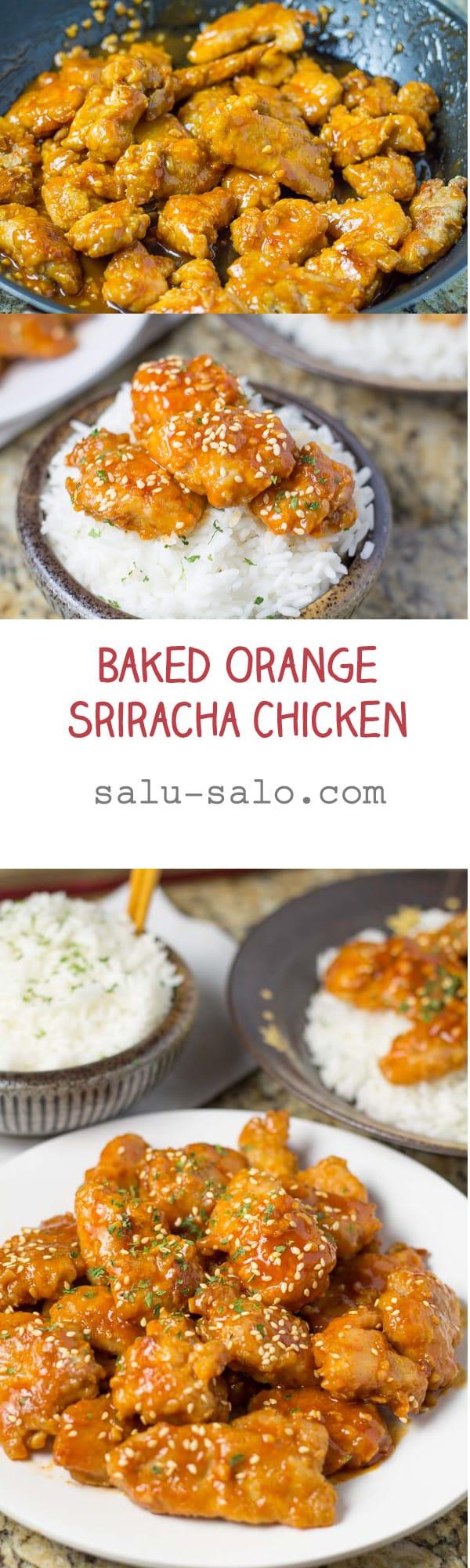Baked Orange Sriracha Chicken