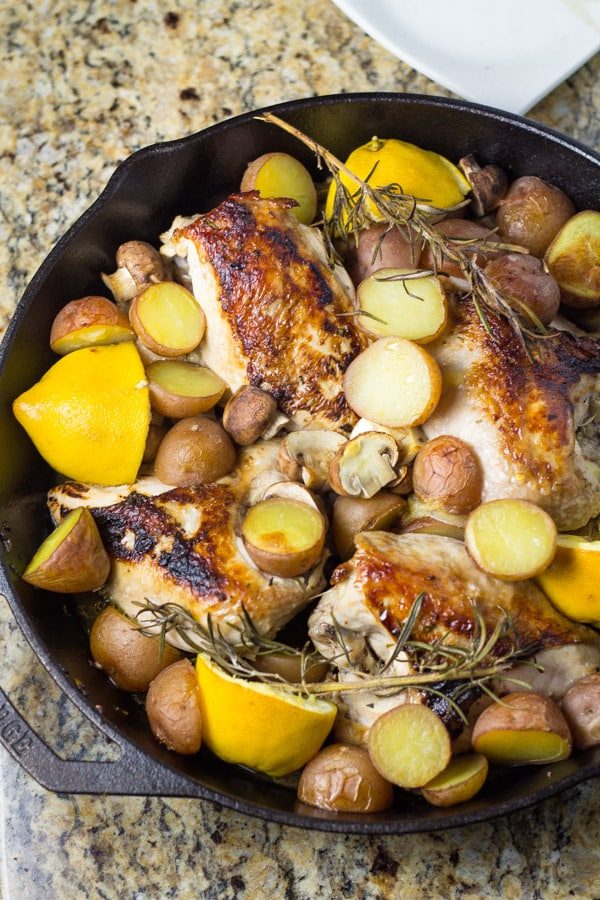 Skillet Chicken Breast with Lemon and Rosemary