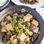 Chinese Braised Tofu and Mushrooms