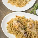 Thyme Chicken with Rice