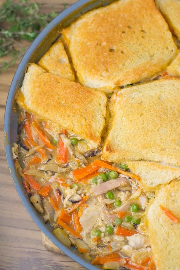 Skillet Chicken Mushroom Pot Pie