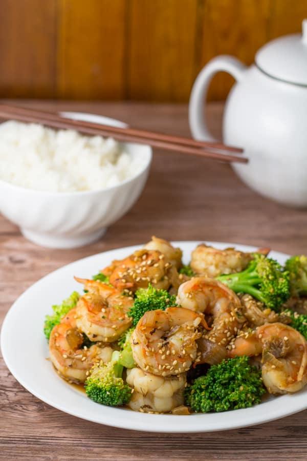 Garlic Shrimp with Broccoli