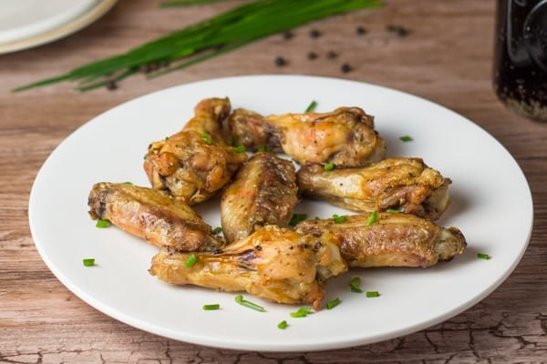 Crispy Baked Salt and Pepper Chicken Wings