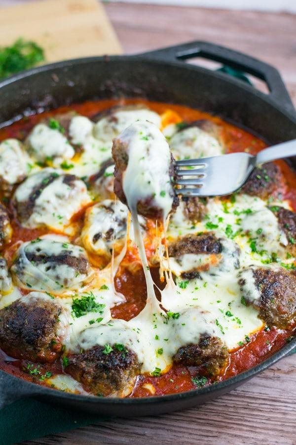 Skillet Meatball Parmesan