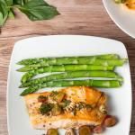 Pan Grilled Salmon with Grape Salsa