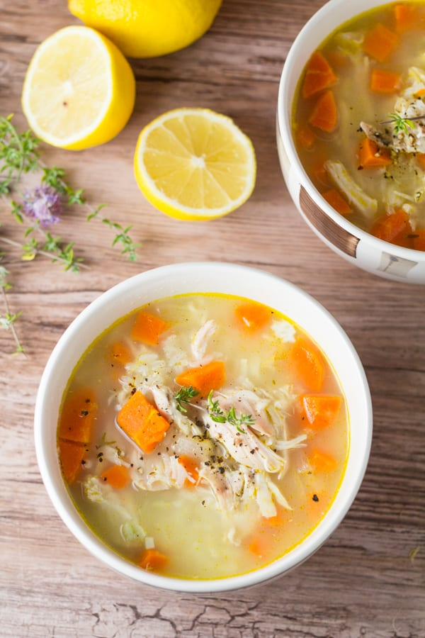 Lemon Chicken Rice Soup