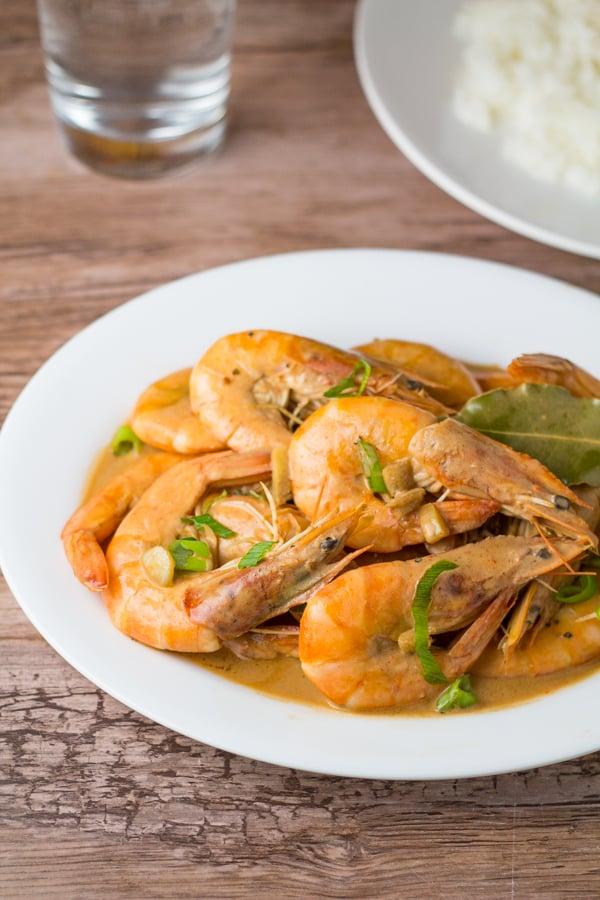 Shrimp Adobo with Coconut Milk