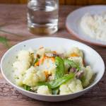 Sauteed Cauliflower and Snow Peas