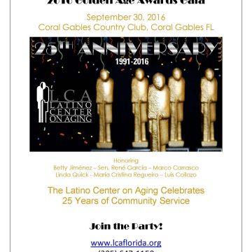 El Latino Center on Aging 25 Aniversario y Premios Edad Dorada 2016