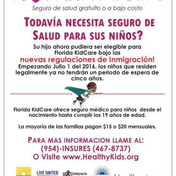 Florida KidCare Nuevas normas que lo hacen ahora más asequible