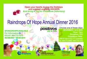 raindrops of hope annual dinner 2016