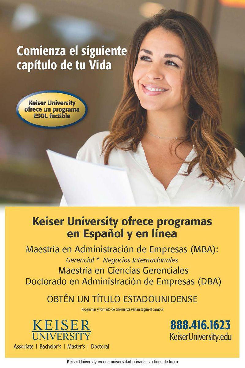 Keiser University, comienza el siguiente capítulo de tu vida