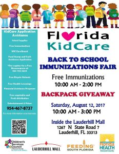 Florida KidCare Back to School Immunizations Fair