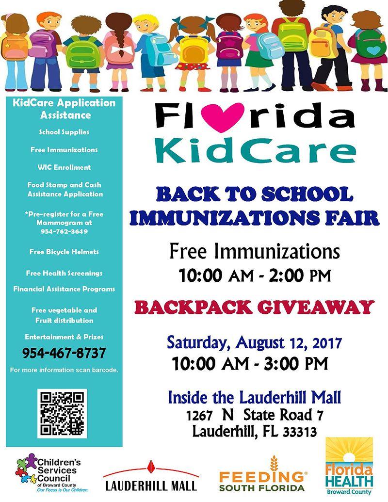 170812 Florida Kidcare Back To School Immunizations Fair  Salud Al Dia  Magazine
