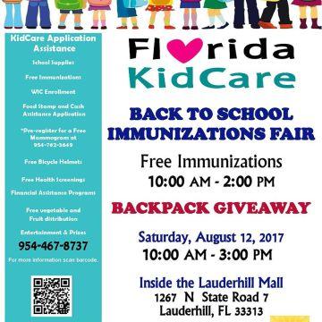 Florida KidCare Back to School Immunizations Fair
